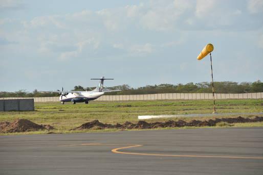 Para libera��o do terminal de Jequi� foram realizadas obras de requalifica��o, revestimento asf�ltico de pista de pouso e decolagem, al�m da constru��o do terminal de passageiros.